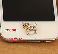 Cat Zircon Home Button Sticker for iPhone