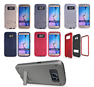 Luxury Tough Slim Armor Case For Samsung Galaxy S6 Mobile Phone Bag Cases Back Cover With Stand Function