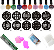 Fashion Nail Art Stamping Manicure Tools (24Pcs/Set)