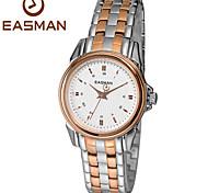 easman relógio marca para as mulheres relógios de quartzo resistente à água relógio sólidos senhoras de grife relógio de aço relógio de