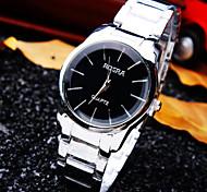 nuevo reloj de la personalidad clásica redonda de acero de línea de moda correa de cuarzo de negocio de las mujeres (colores surtidos)