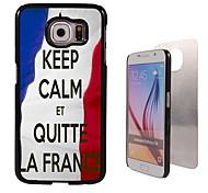 Keep Calm Et Quite La France Design Aluminum High Quality Case for Samsung Galaxy S6 Edge G925F