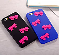 Stereo Pink Bow Silicone Protective Cover Packagefor iPhone 6/6S(Assorted Colors)
