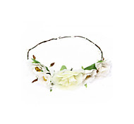 White Handcrafted Cloth Flower Girl Bridal Head Wreath Headpiece Hot