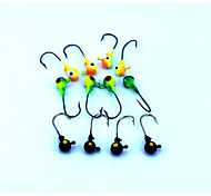 "Jig / Esca metallica / Jig Head 16pcs pc , 3.5G g / 1/8 Oncia , 35 mm / 1-3/8"" pollice Colori casuali Metallo / Plastica dura / FiliPesca"