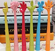Cartoon Creative Flexible Expression Pattern Hand Finger Gestures BallPoint Pen(Random Color)