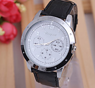 Classic black PU strap square fashion new men's fashion business style / watch quartz watch