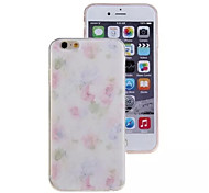 Pink Flowers Pattern TPU Material Phone Case for iPhone 6