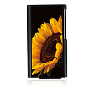 Big Sunflower Leather Vein Pattern Hard Case for iPod Nano 7