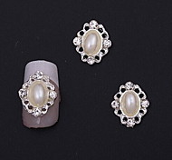 Fashion Crown/Wedding Finger Nail Jewelry Alloy/Crystal/Imitation-pearl Nail Stickers 10pcs
