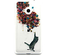 Cats Catch Butterflies Feel Comfortable TPU Case for Nokia N435/N535/N640