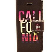 conception de fleur cas pu téléphone en cuir flip avec support pour iPhone 5c
