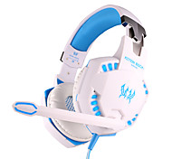 EACH G2100 Headphone Wired 3.5mm Over Ear Gaming Vibration Volume Control with Microphone For PC