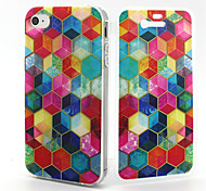 Colorful Diamond Pattern TPU Soft Full Body Cover Case for iPhone 4/4S