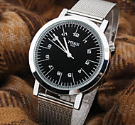 Men's New Personality  Round Dial PC Movement Steel Band Fashion Life Waterproof Quartz Watch Wrist Watch Cool Watch Unique Watch
