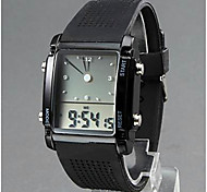 Men's Watch Pointer and Digital Display Style (Assorted Colors)