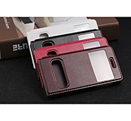 New Arrival Wholesale Bulk Funky Window View PU Leather Flip Mobile Phone Case for Huawei G6 Assorted Colors