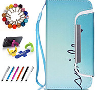 Good Quality PU Leather Full Body Case Wallet Case for iPhone 4/4S with Touch Screen Pen Dustproof Plug Stents