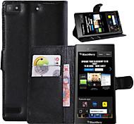 litchi alrededor enfrentamiento abierto teléfono funda adecuada para z3 blackberry (color clasificado)