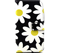 Fashion Design COCO FUN® Yellow Daisy Pattern PU Leather Wallet Case Cover for  Wiko Lenny
