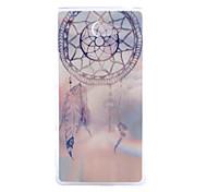 Campanula Pattern Slim Transparent TPU Material Soft Phone Case for Sony M2