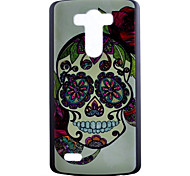 For LG Case Pattern Case Back Cover Case Skull Hard PC LG