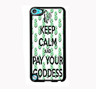 Keep Calm and Pay Your Goddess Design Aluminum High Quality Case for iPod Touch 5