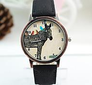 Women's  Watch New Denim Fabric English Digital Belt Watch