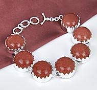mejor precio ronda fuego estrellas de fuego gema sol sitar 0.925 pulseras de plata de la cadena de enlace de brazaletes para la fiesta de