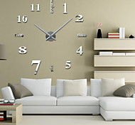 "Uermerstar 39""W DIY 3D Mirror Large Numbers Acrylic Sticker Wall Clocks Art Modern Style"