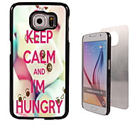 Keep Calm and I am Hungry Design  Aluminum High Quality Case for Samsung Galaxy S6 SM-G920F