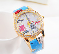 Montre punk diamants dames de vente chaude de