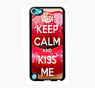 Keep Calm and Kiss Me Design Aluminum High Quality Case for iPod Touch 5