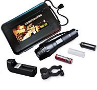 MEILV 5 Mode Lumens LED Flashlights/Bike Lights/Handheld Flashlights 18650Adjustable Focus/Waterproof/Rechargeable/Clip