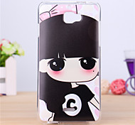 The Beautiful Girl Pattern TPU Soft Case for Coolpad F1 8297