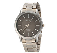 Men's Casual Design Silver Steel Band Quartz Wrist Watch
