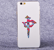 patrón de mahjong acrílico TPU suave para el iphone 6