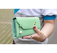 Outdoor Activities Multifunctional PU Leather Messenger Bag Pearl Pendant(Assorted Colors)