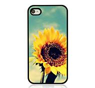 Sonnenblumenledervenenmuster Hard Case für iPhone 4 / 4s