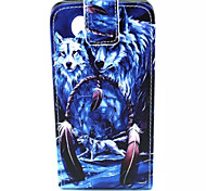 Vertical Flip Open Wolf Dream Catcher Pattern PU Leather with Card Slot Case for Microsoft Lumia 435/640/640 XL