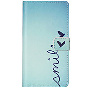 Smile Pattern PU leather phone Case For Huawei P8 Lite