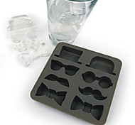 Novelty Gentleman's Outfitter Ice Cube Tray SIlicone Ice Mould (Random Color)