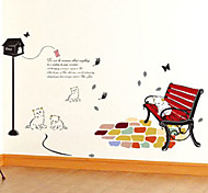 Multifunction DIY PVC Mailbox and Cats Decorative Stickers