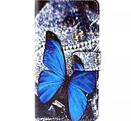 Butterfly  Pattern PU Leather Phone Case For Sony M4