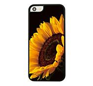 große Sonnenblume Leder Venenmuster Hard Case für iPhone 5/5 s