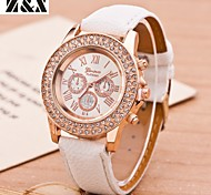 relógio de forma simplicidade de quartzo cristal de rocha genebra pulso analógico das mulheres (cores sortidas)