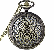 Fashion Petal Shape Vintage Alloy Quartz Analog Pocket Watch With Chains  (1 x LR626)