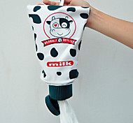 Toothpaste Tube Shape Tissue Box Roll Toilet Paper Cover Holder with Lovely Cartoon (Random Color)