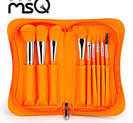 msq®9pcs marca novas arrivels maquiagem laranja jogo de escova