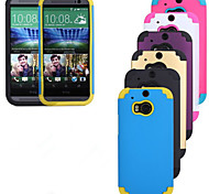 Outdoor Following from PC Silicone Hockey Protective Sleeve for HTC M9 HTC M8(Assorted Color)